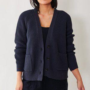 Brandy Melville Rib Kit Navy Blue Cardigan S/M